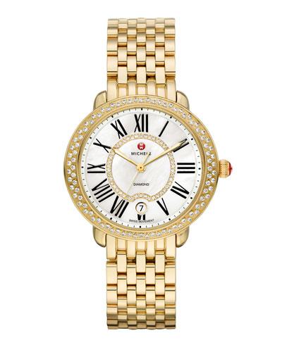 36mm Serein 16 Mid Gold Diamond Watch