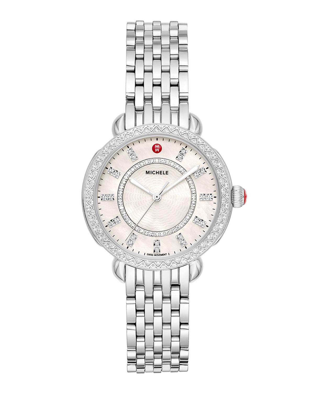 Sidney Classic Diamond Stainless Steel Watch