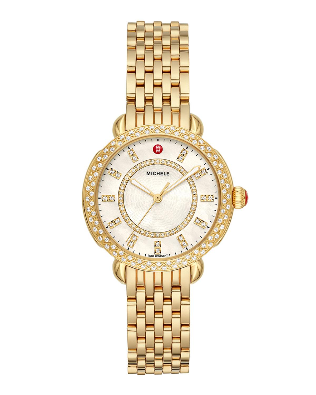 Sidney Classic Diamond Gold Watch