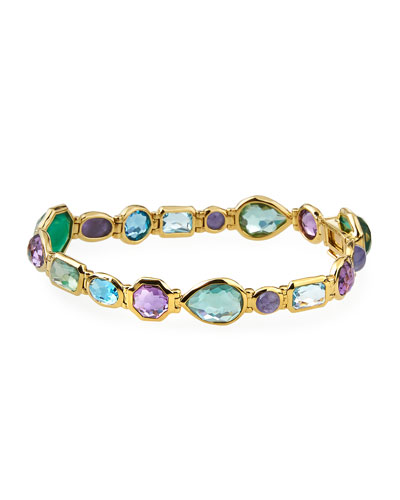 Rock Candy 18k Amethyst-Blend Bezel-Set Bracelet