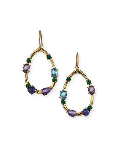 18K Rock Candy Medium Frame Earrings in Hologem