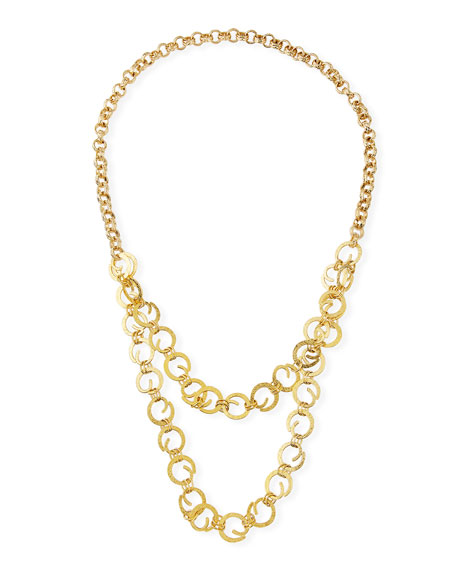 Devon Leigh Chain 2-Layer Long Necklace