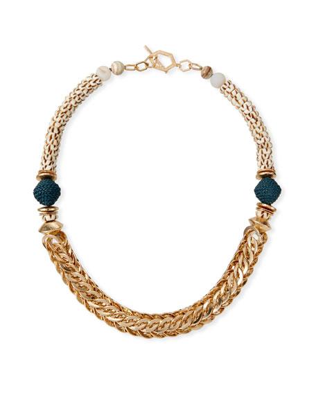 Akola Chunky Chain Batik Bone Necklace