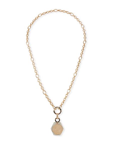 Akola Long Horn & Coin Pendant Necklace