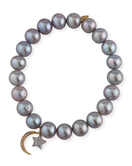 Sydney Evan 14k Diamond Celestial & Pearl Bracelet