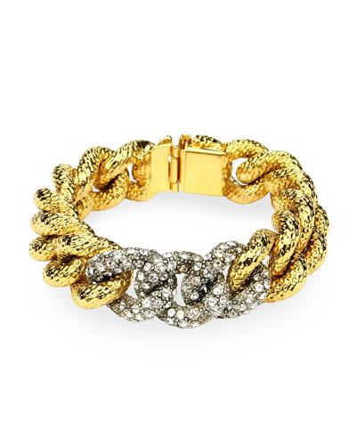 Curb-Link Crystal Bracelet