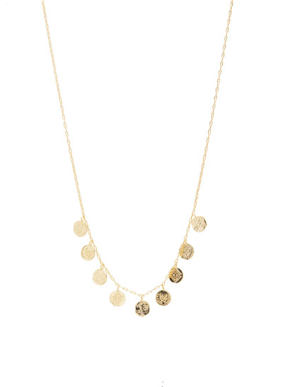 Ana Coin Charm Necklace