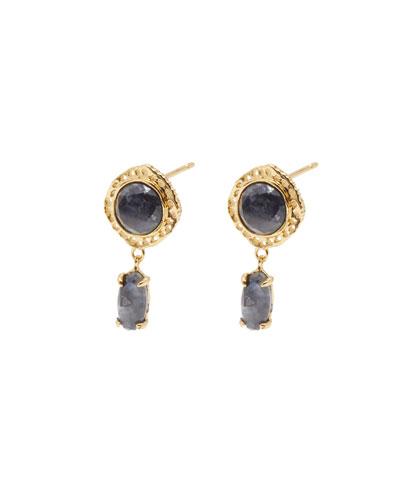 Gia Stone Stud-Drop Earrings