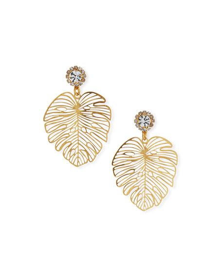 Elizabeth Cole Francesca Palm Leaf Earrings