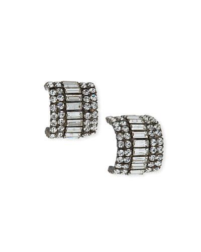 Karen Crystal Huggie Earrings
