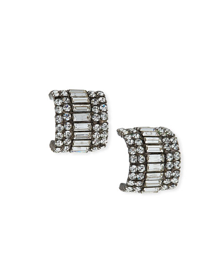 Elizabeth Cole Karen Crystal Huggie Earrings