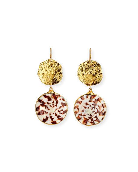 Devon Leigh Shell Dangle Earrings