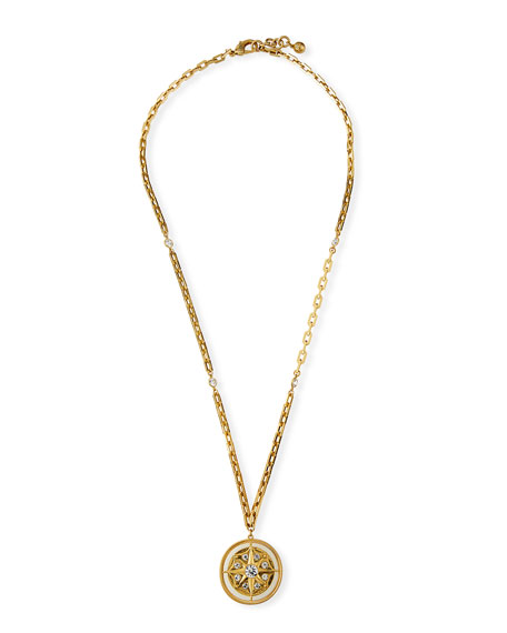 Lulu Frost Find Your Way Long Compass Necklace