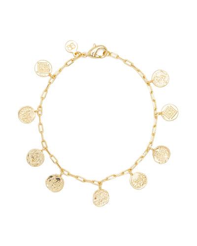 Ana Coin Charm Bracelet