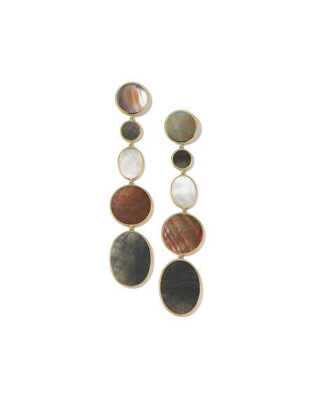 Ippolita 18K Polished Rock Candy Long Linear Earrings in Sabbia