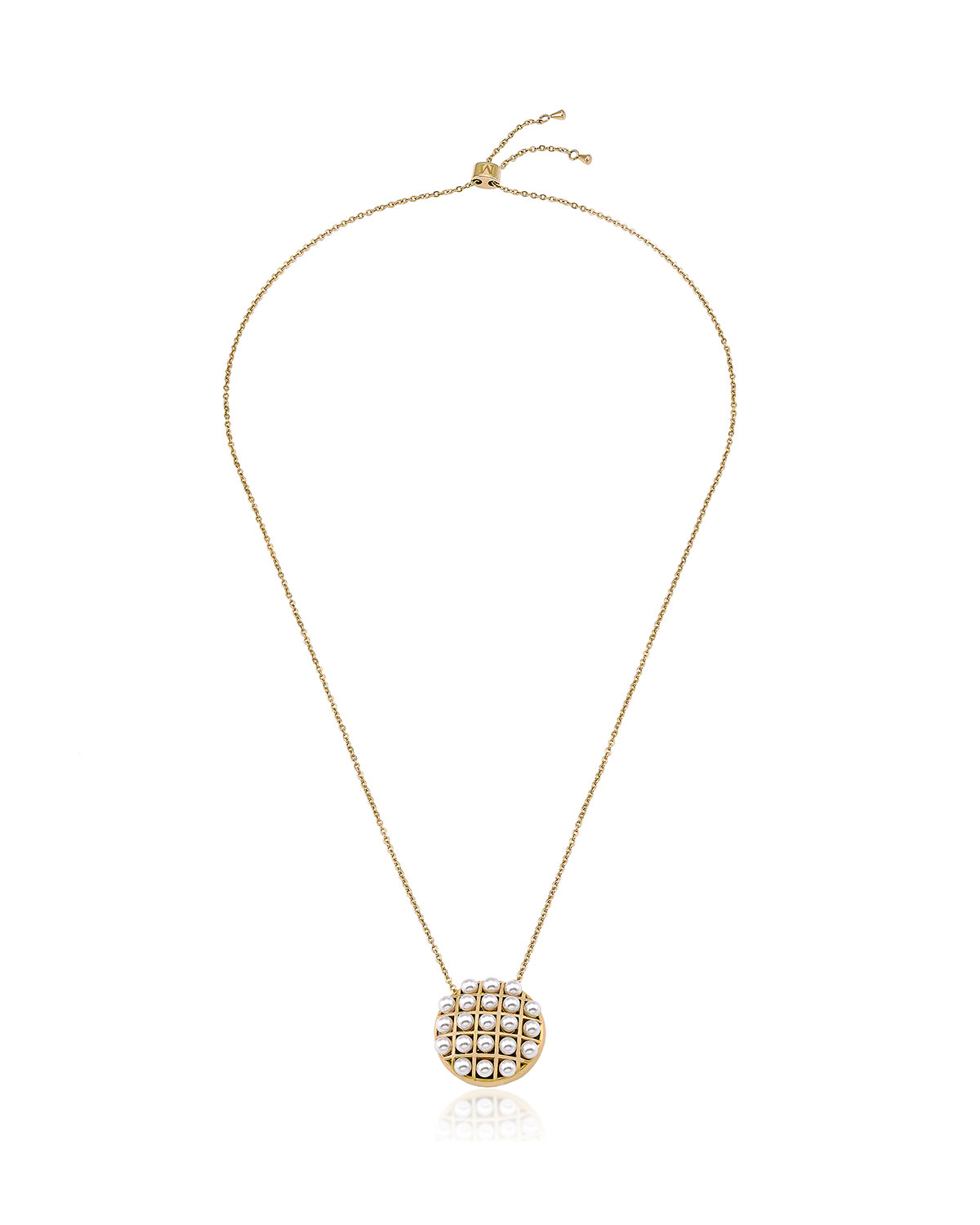 4mm Multi-Pearly Pendant Necklace