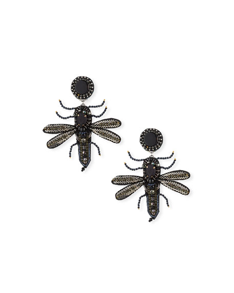 Ranjana Khan Bee Clip-On Dangle Earrings