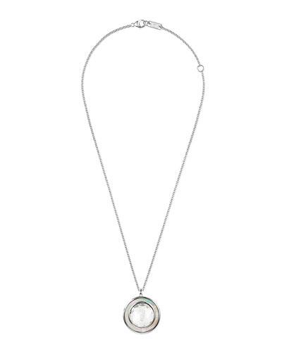 Polished Rock Candy Medium Circle Necklace, White