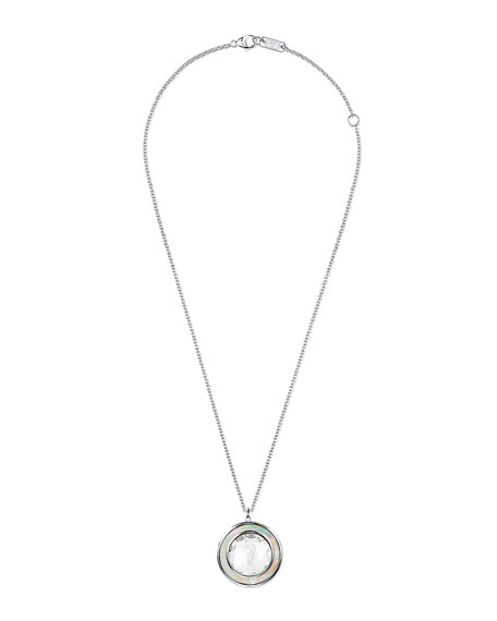 Ippolita Polished Rock Candy Medium Circle Necklace, White