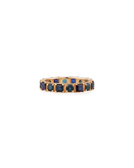Armenta 18k Rose Gold Blue Sapphire & Tourmaline Ring, Size 6.5