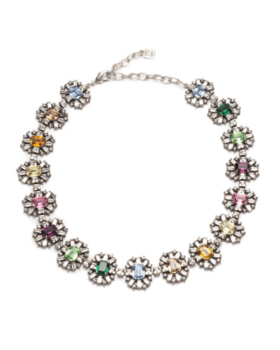 Paloma Crystal-Station Necklace