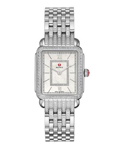 Deco II Mid Stainless Steel Diamond Bracelet Watch