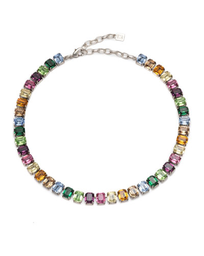 Isla Multicolor Crystal Necklace