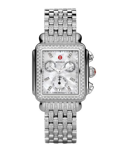 Deco 18 Steel Diamond Taper Bracelet Watch