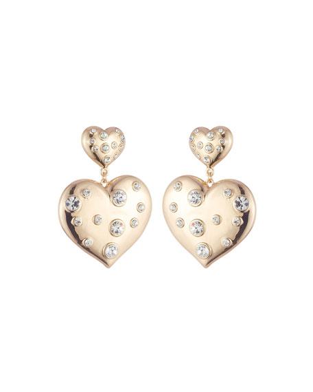 Dannijo Amante Double-Heart Earrings