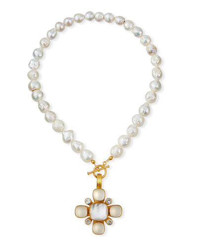 Baroque Pearl & Mixed Pendant Necklace