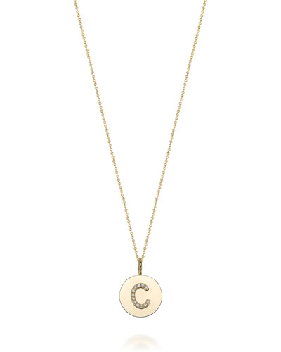 Kari Personalized Pendant Necklace w/ Diamonds