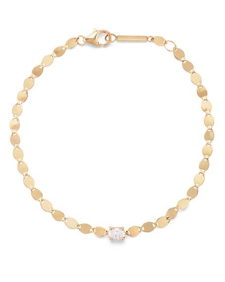 Lana 14k Solo Oval Bracelet w/ Diamonds