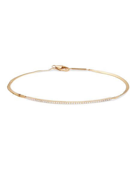 Lana Flawless Curve Liquid 14k Diamond Bracelet