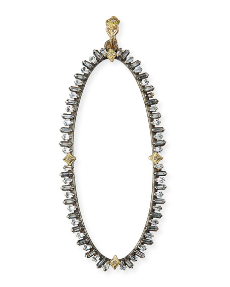 Armenta Old World Oval Sapphire Enhancer w/ Diamonds