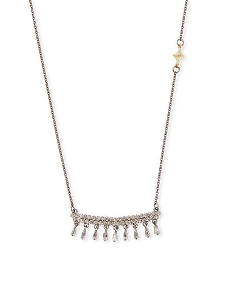 Armenta Old World Diamond-Bar Sapphire-Shaker Necklace