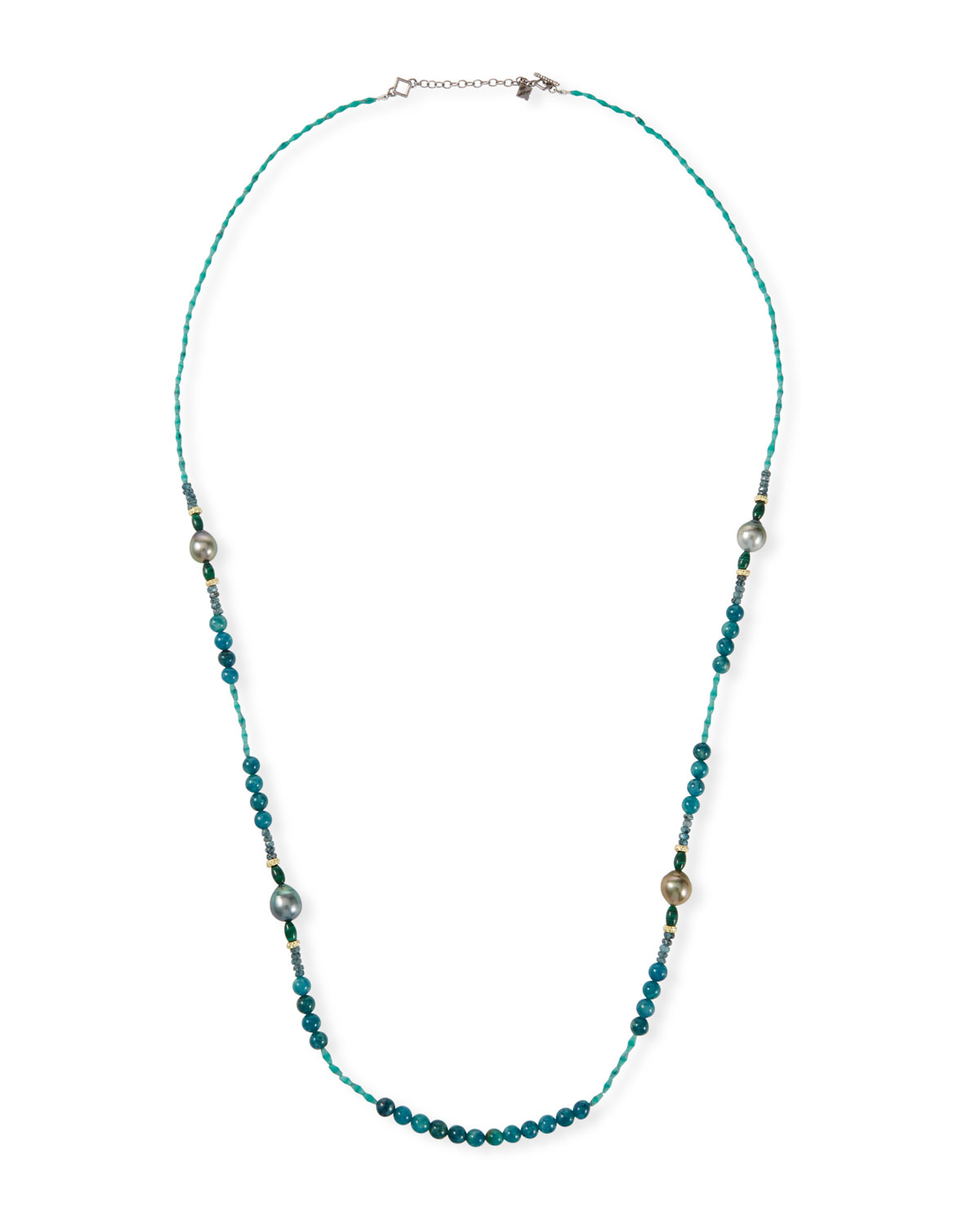 "Armenta Accessories OLD WORLD PEARL MIXED-BEAD LONG NECKLACE, 36""L"