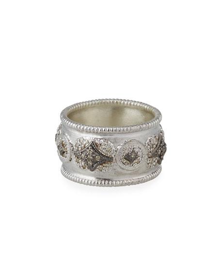 Armenta New World Diamond Crivelli Wide Band Ring, Size 6.5 & 7
