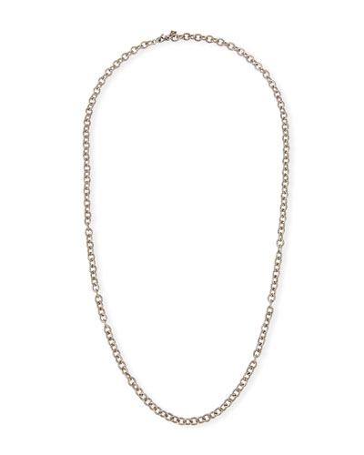 Old World Long Chain-Link Necklace, 30
