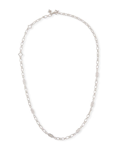 New World Oval-Link Scroll Necklace