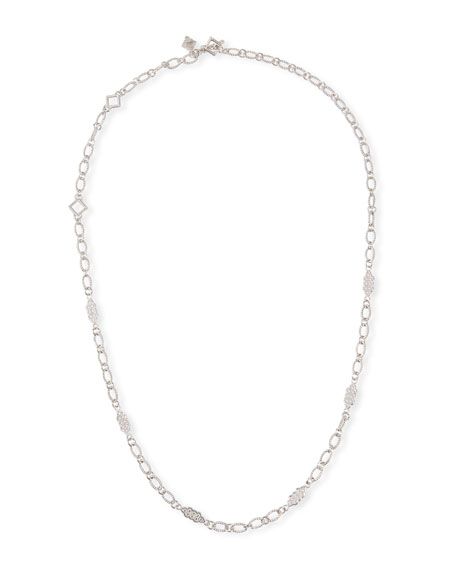Armenta New World Oval-Link Scroll Necklace