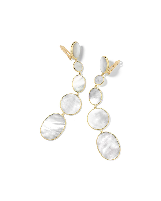 Polished Rock Candy 18k 5-Drop Clip Earrings