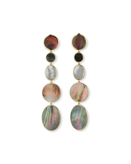 Ippolita Polished Rock Candy 18k 5-Drop Clip Earrings