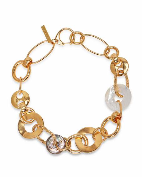 Lizzie Fortunato Solstice Mixed-Link Necklace