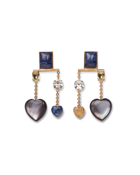 Lizzie Fortunato Lucky Mixed Dangle Earrings