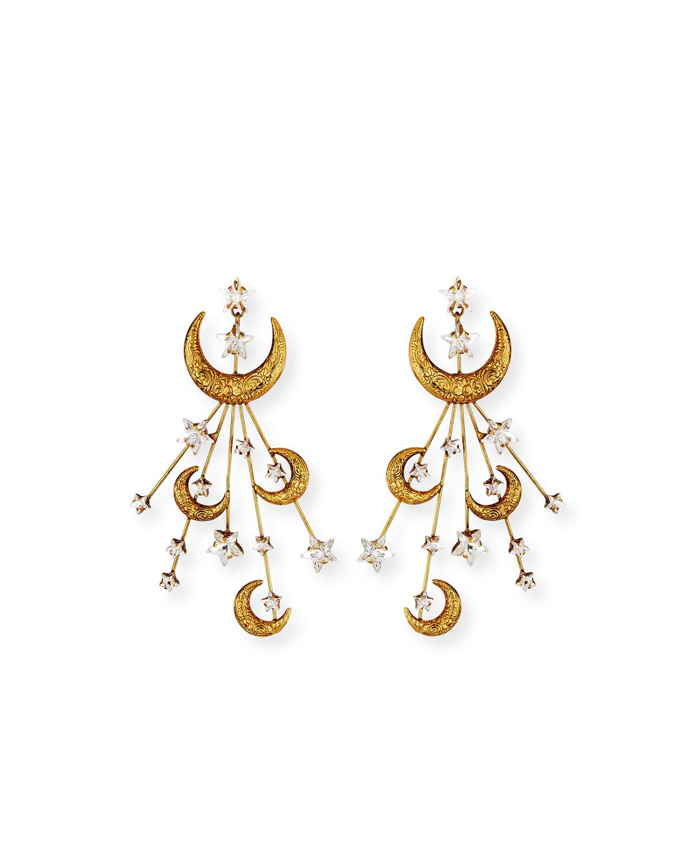 Lunetta Crescent Moon Earrings