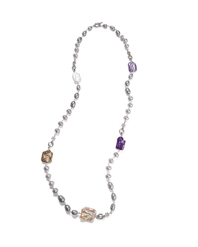 Long Mother-of-Pearl Necklace