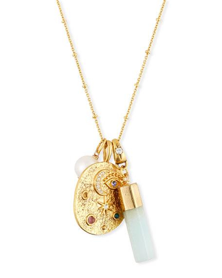Sequin Celestial Talisman Necklace