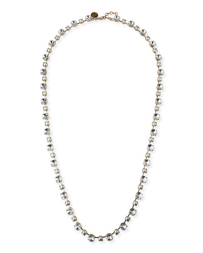 Margot Long Crystal Necklace, 38