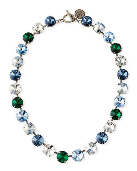 Rebekah Price Charlie Rivoli Crystal Necklace, Blue