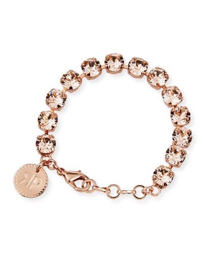 Maxine Crystal Bracelet, Pink